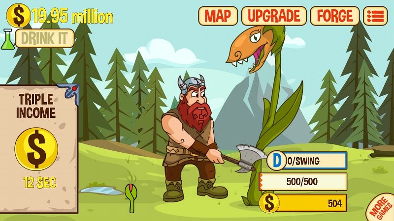 Axe Clicker - Idle Dwarf Mobile Game