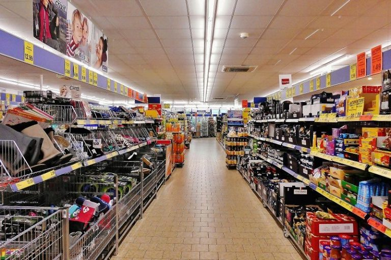 Groceries in a supermarket