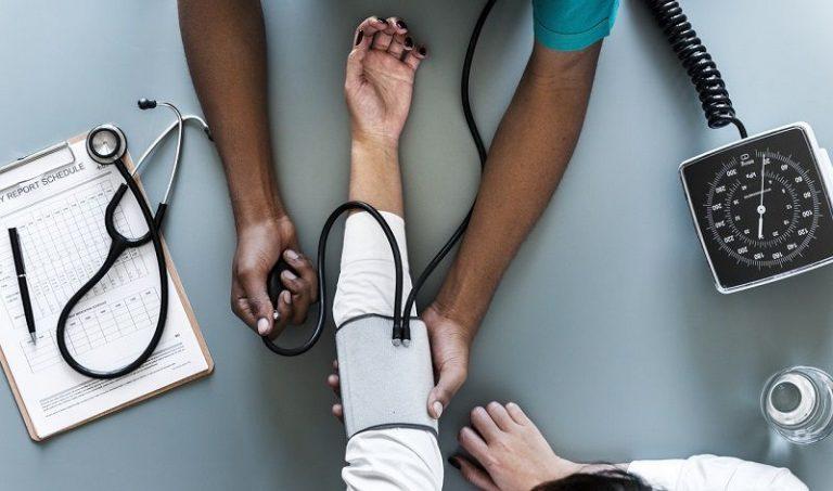 Doing medical checkups at hospital