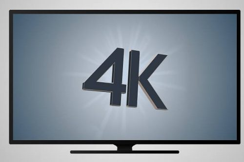 Watching 4K TV screen