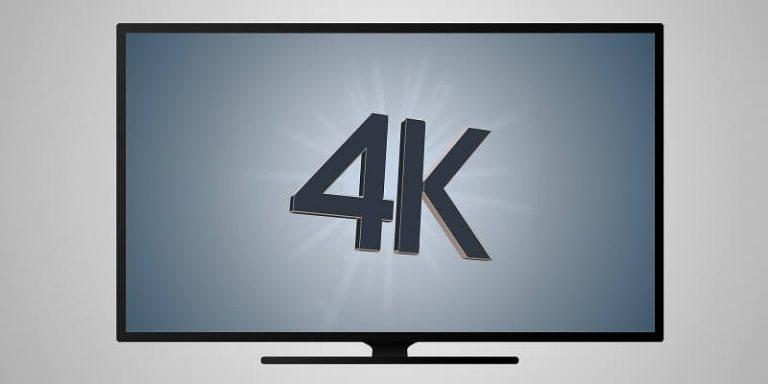 Watching 4K TV screen