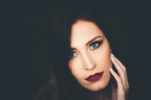 Women with beautiful smokey eyes makeup