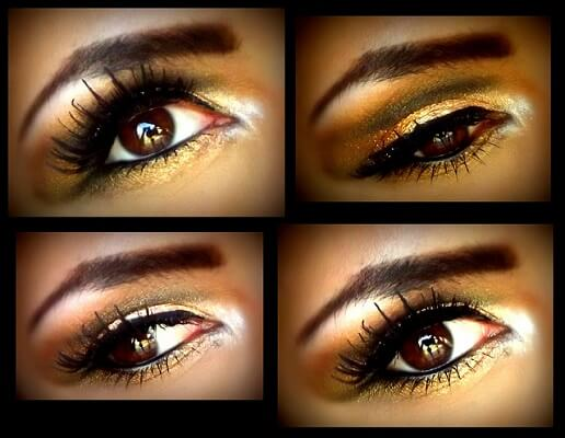 Different golden smokey eyes looks
