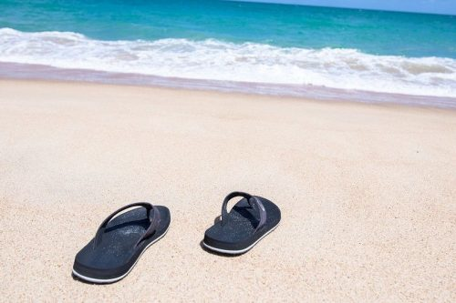 Flip flops on the Beach of Patong