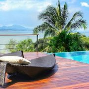 Enjoying vacation in a Thai Luxury resort