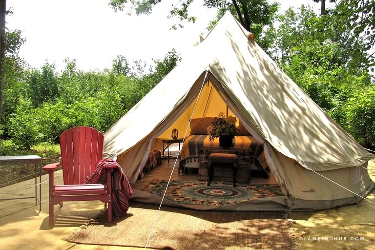 Glamping in a Bell Tent