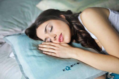 A girl taking deep relaxing sleep