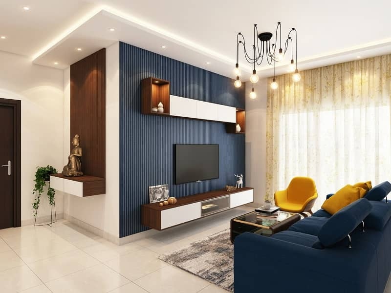 Room in a house with the matching color schemes