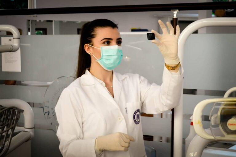 A Nurse working in a hospital