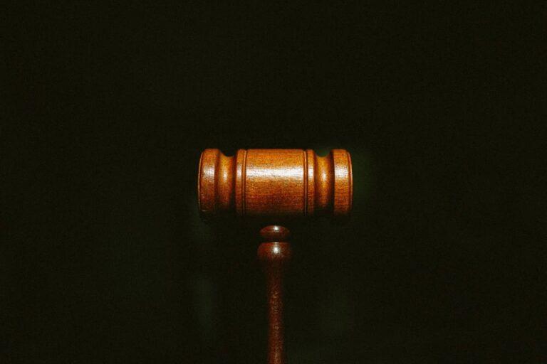 A wooden Gavel